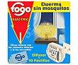 Insecticida eléctrico antimosquitos en pastillas (aparato + recambios) Caja 10 pastillas Fogo