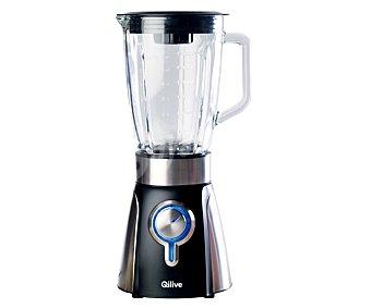 Qilive Batidora de vaso Q.5976, 700W, 2 velocidades y pulse, jarra de cristal 1,5l