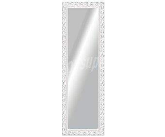 ARTEMA Espejo plano rectangular, marco de madera con acabados en color plata y efecto desgastado, 30x120 centímetros 1 unidad