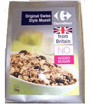 Carrefour Cereales swiss muesli n/sugar from britain 1 kg