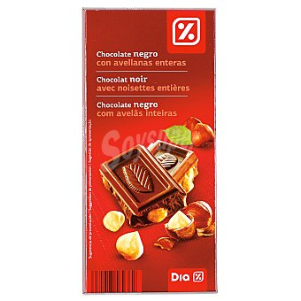 DIA Chocolate negro 55% con avellanas Tableta 200 gr