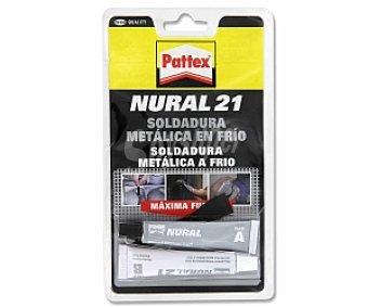 Nural 21 de PATTEX Soldadura, Reparadora en Frio de Gran Resistencia y Color Girs. 2x11 Mililitros 1 Unidad