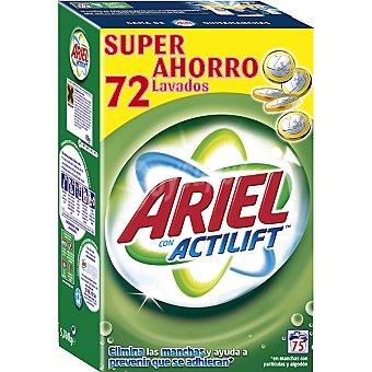 Ariel detergente máquina polvo con Actilift maleta 75 cacitos
