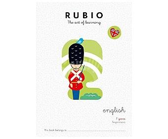 Rubio Cuadernillo English 7 years beginners. Género: infantil, actividades, inglés. Editorial Rubio