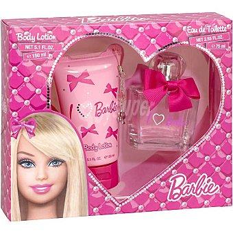 Barbie eau de toilette infantil + body loción Spray 75 ml