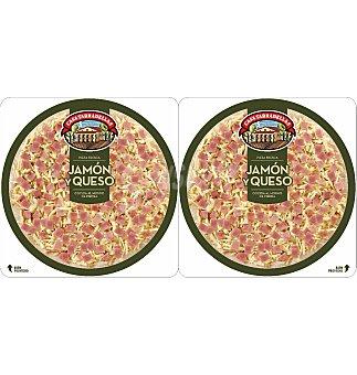 Casa Tarradellas Pack pizza jamon y queso 450 G