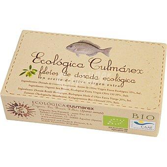 ECOLOGICA CULMAREX Filetes de dorada ecológica en aceite de oliva virgen  lata 85 g neto escurrido