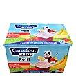 Petit de fresa y fresa-plátano Pack de 12 unidades de 50 g Carrefour Kids
