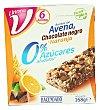 Barrita de cereales avena chocolate negro y naranja 0% azúcares añadidos Caja 6 uds Hacendado