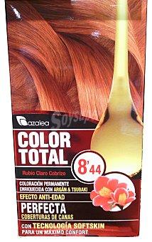 AZALEA Tinte coloración permanente color total n 8.44 rubio claro cobrizo (enriquecido con aceite argan y tsubaki) unidad