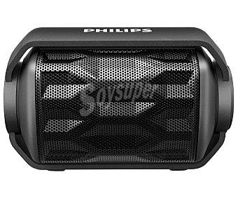 PHILIPS BT2200B/00 Mini altavoz de batería, Bluetooth con micrófono integrado, color negro