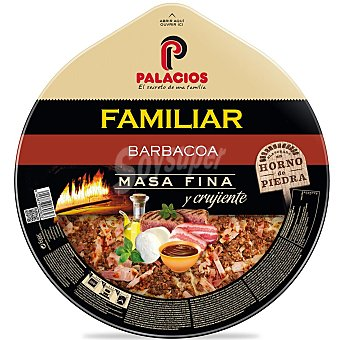 Palacios Pizza familiar sabor barbacoa Envase 580 g