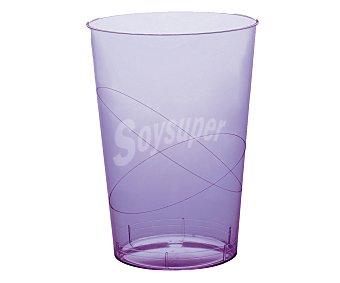 NV CORPORACION Vasos desechables de plástico color lila, 0,30 litros de capacidad 6 unidades
