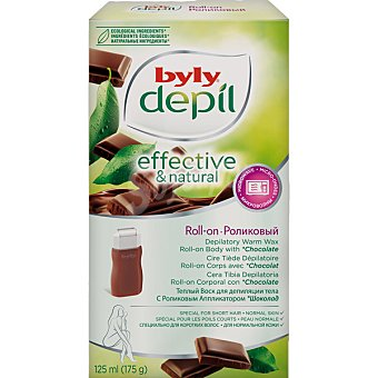 Byly Cera tibia depilatoria corporal al chocolate para pieles delicadas Caja 125 ml