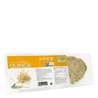Soria Natural Hamburguesa de quinoa ecológica Soria Natural sin gluten Pack de 2 unidades de 80 g