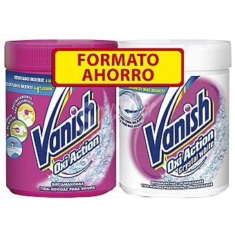 Vanish Quitamanchas bote 500 g + Oxi Action Crystal White bote 500 g Bote 500 g