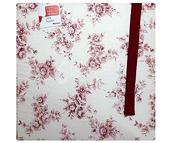 Auchan Cojín estampado para silla, modelo Panama, color rosa 40x40 centímetros 1 Unidad