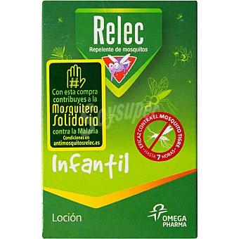 RELEC Infantil loción repelente de mosquitos eficaz contra el mosquito tigre hasta 7 horas  frasco 125 ml