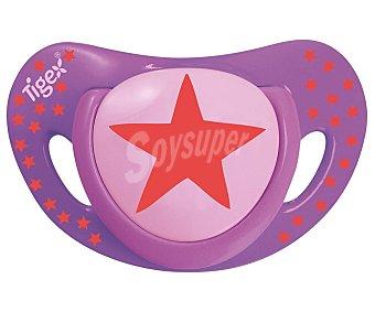 Tigex Chupetes de silicona para bebés de más de 18 meses, rosa, smart tigex