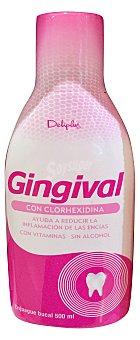 Deliplus Enjuague bucal gingival con clorhexidina sin alcohol (reduce inflamacion de las encias) Botella 500 cc