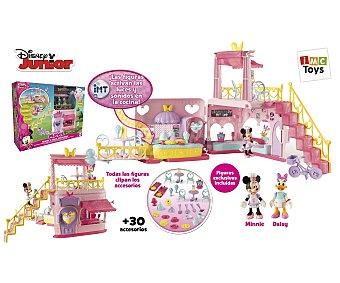 Disney Playset de juego Restaurante mágicocon luces y sonidos, incluye figuras Minnie y Daisy 1 unidad