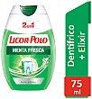 Dentífrico 2en1 con enjuague sabor menta fresca Tubo 75 ml Licor del Polo