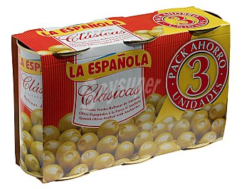 La Española Aceitunas rellenas de anchoa Pack 3x150 g