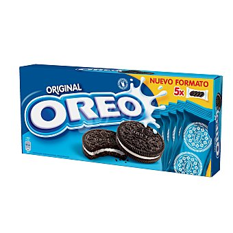 OREO galletas de chocolate rellenas de crema  pack de 5x44 g