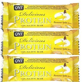 QNT Delicious Protein Barrita sabor banana pack 3x35 estuche 105 g Pack 3