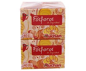 Auchan Lote de 10 cajas de 40 fósforos de seguridad 1 unidad