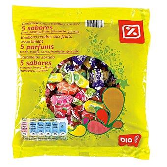 DIA Caramelos masticables 5 sabores Bolsa 475 gr