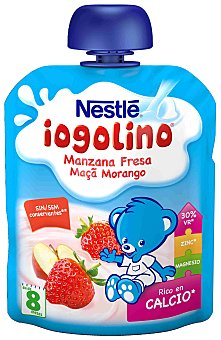Iogolino Nestlé Puré de manzana y fresa con leche Envase 90 g