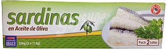 Ubago Sardinas aceite oliva Pack de 2x80gr