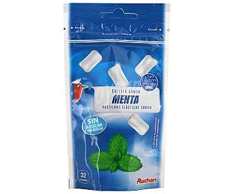 Auchan Chicles de menta sin azúcar, con edulcorantes Paquete de 32 uds