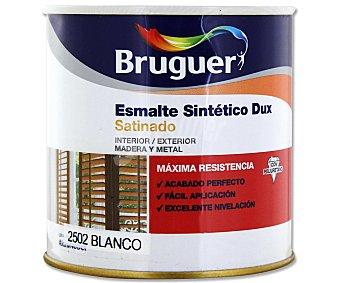 BRUGUER Esmalte sintético de color blanco y con acabado satinado, de la serie Dux 0,25 litros