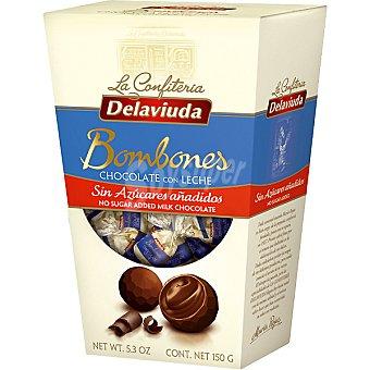Delaviuda Bombones de chocolate con leche sin azúcar Estuche 150 g