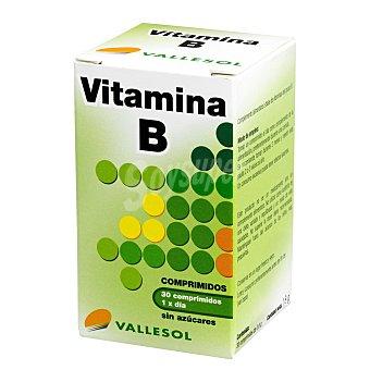 Vallesol Comprimidos de vitamina B, sin azúcares Caja 30 comprimidos