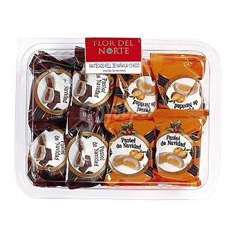 Flor del norte Mantecados rellenos de naranja y chocolate Bandeja 280 gr