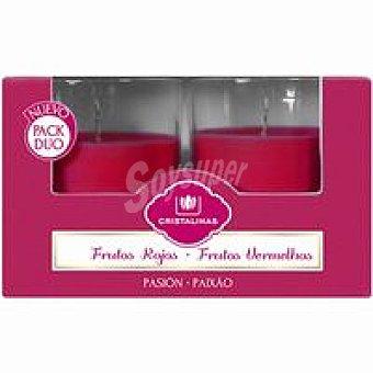 Cristalinas Vela ambientador frutos rojos Pack 2 unid