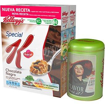 Special K Kellogg's Cereales con chocolate negro + regalo lata 2 unidades de 750 g + regalo lata