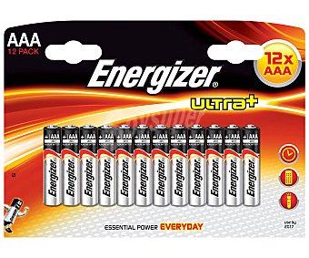 Energizer Pilas alcalina Ultra+ AAA LR3 1,5V 12 unidades