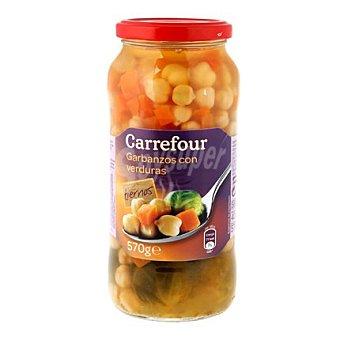 Carrefour Combinado de garbanzos con zanahorias y coles de bruselas 400 g