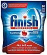 Calgonit detergente lavavajillas Super Power todo en 1 bolsa 90 unidades 1 bolsa 90 unidades Finish