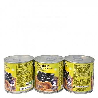 Carrefour Champiñones laminados Pack de 3 unidades de 115 g