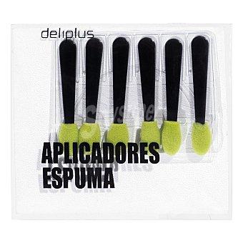 Deliplus Aplicadores sombra ojos Paquete de 6 unidades
