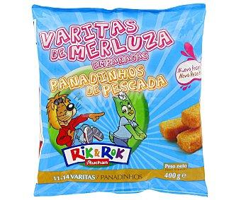 Rik&Rok Auchan Varitas de merluza 400 gramos