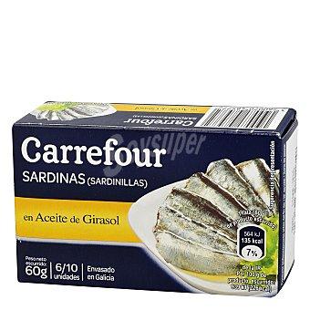 Carrefour Sardinas en aceite de girasol 57 g