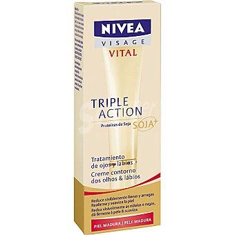 Nivea Contorno de ojos Multi Active Soja piel madura Vital Tubo 15 ml