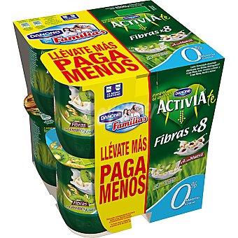 ACTIVIA DE DANONE Fibras yogur desnatado con muesli 0% materia grasa pack 4 unidades 125 g + yogur desnatado con cereales y kiwi 0% materia grasa pack 4 unidades 125 g Pack 4 unidades 125 g