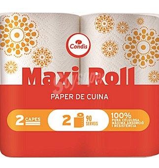 Condis Papel de cocina maxi roll 2 unidades